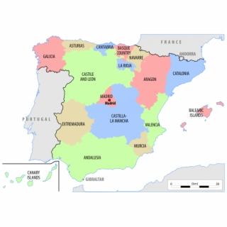 Small Map Of Spain.Spain Spain On World Map Map Of Iberia Blank Transparent Png