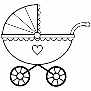 Baby Clipart Black And White - Baby Rattle Coloring Pages ...
