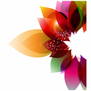 Color Flower Abstract Art Petal Png Image With
