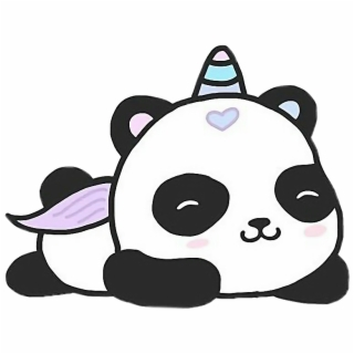 Panda Cartoon Png Cute Cartoon Unicorn Panda Png Download Cute Baby Panda Drawing 1693984 Vippng