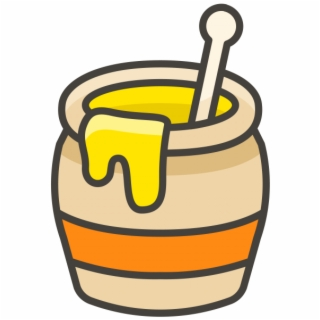 Honey Pot Emoji Icon | Transparent PNG Download #2543841 - Vippng