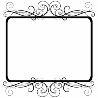 Frame Border Edging Decoration Fancy Curly Black
