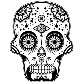 Day Of The Dead Skull Pixel Art Tete De Mort Transparent