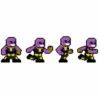 Roblox Thanos Whatsapp Stickers Stickers Cloud - Pixel Art Png Download Thanos Pixel Art Png