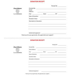 Church Donation Receipt Template from i.vippng.com