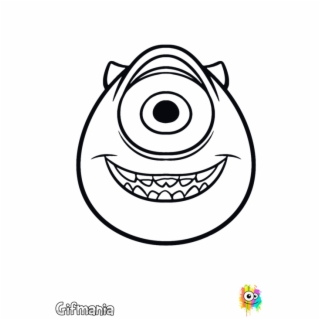 Mike Wazowski Png Mike At Monsters University Monster Inc Easy Drawings 4753859 Vippng