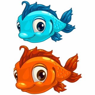 School Of Fish Png Gold Fish Clipart School Snack Cartoon Fish No Background 5065508 Vippng