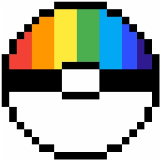 Rainbow Pokeball Dog Pixel Art Easy Transparent Png