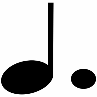 Note Music Symbol Eighth Black Sound Pictogram - Music ...